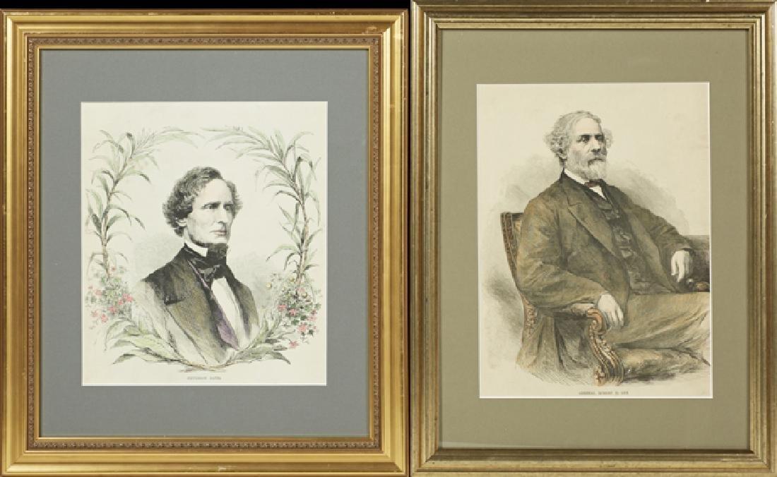 Four Portraits of Confederate Luminaries, 19th c., of - 2
