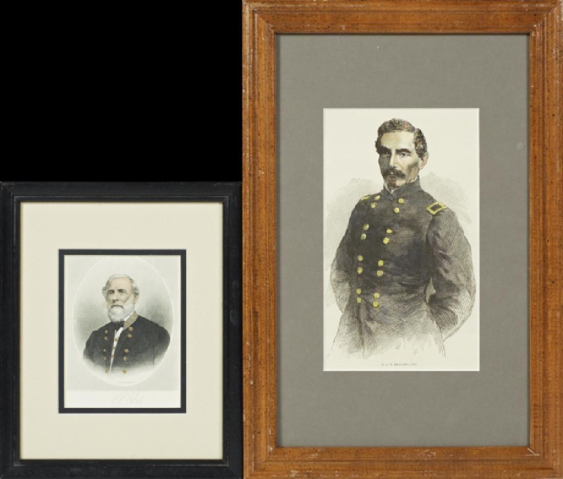 Four Portraits of Confederate Luminaries, 19th c., of - 3