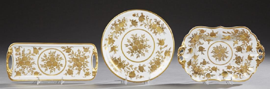 Group of Three French Porcelain Pieces, early 20th c.,