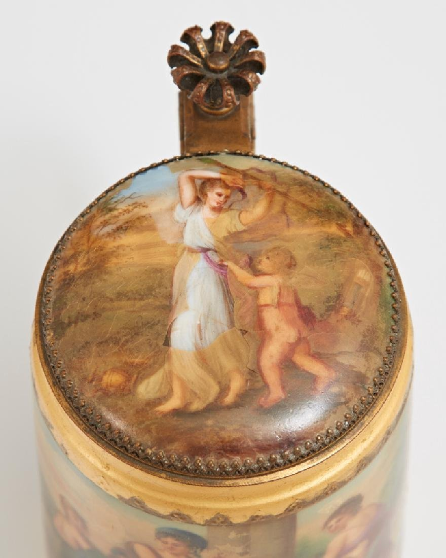 Royal Vienna Style Hand Painted Covered Stein, 19th c., - 3