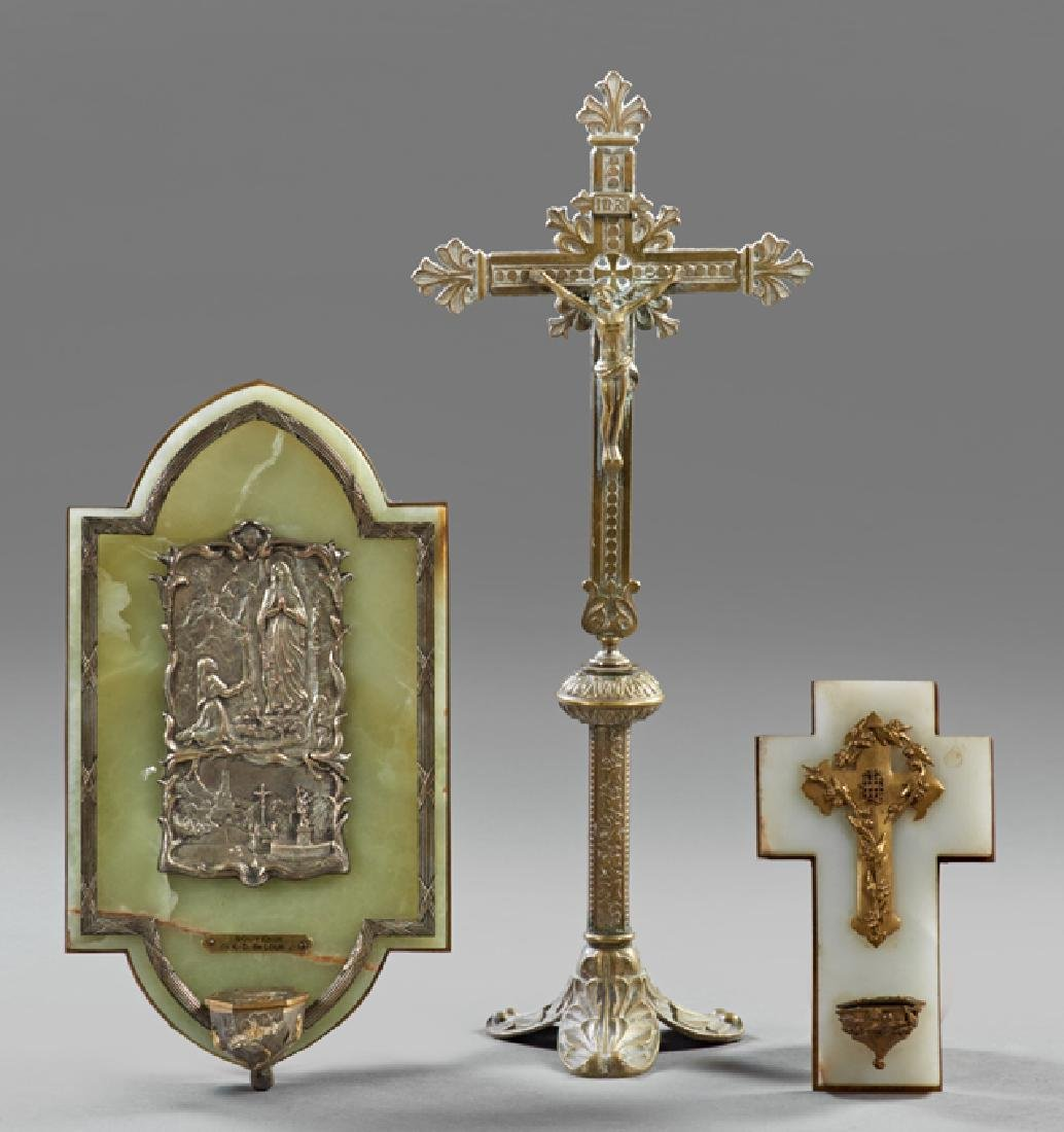 Group of Three French Religious Items, early 20th c.,