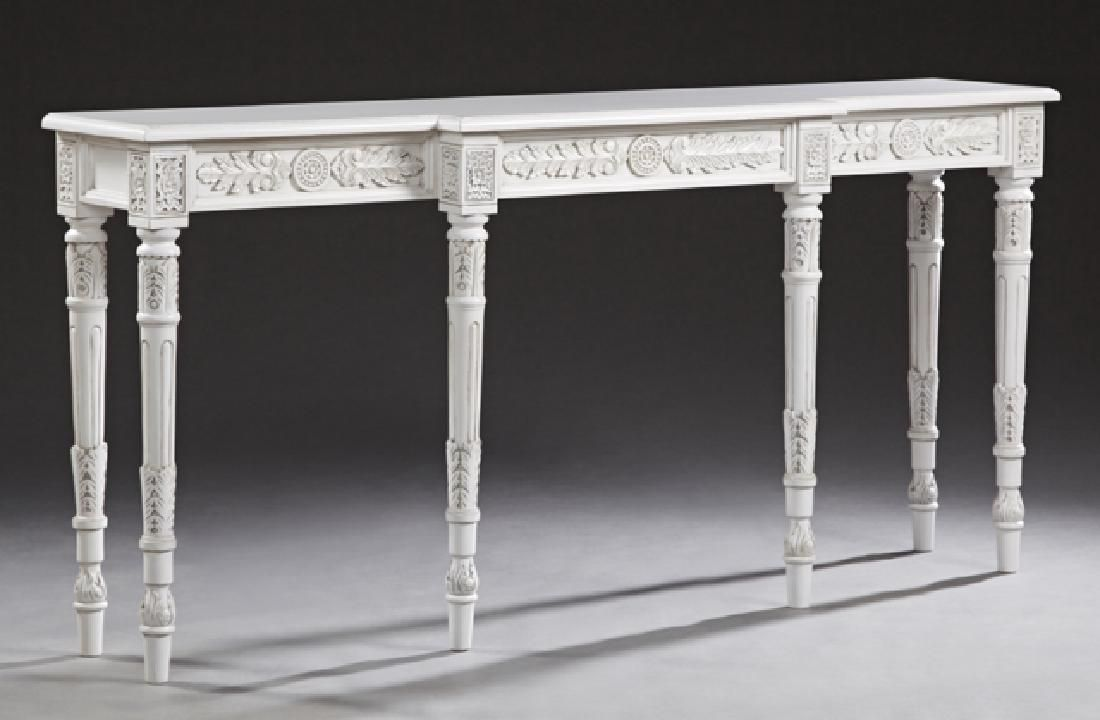 Louis XVI Style Polychromed Composition Console Table,