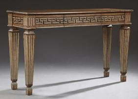Classical Style Mahogany Console Table, 20th c., the