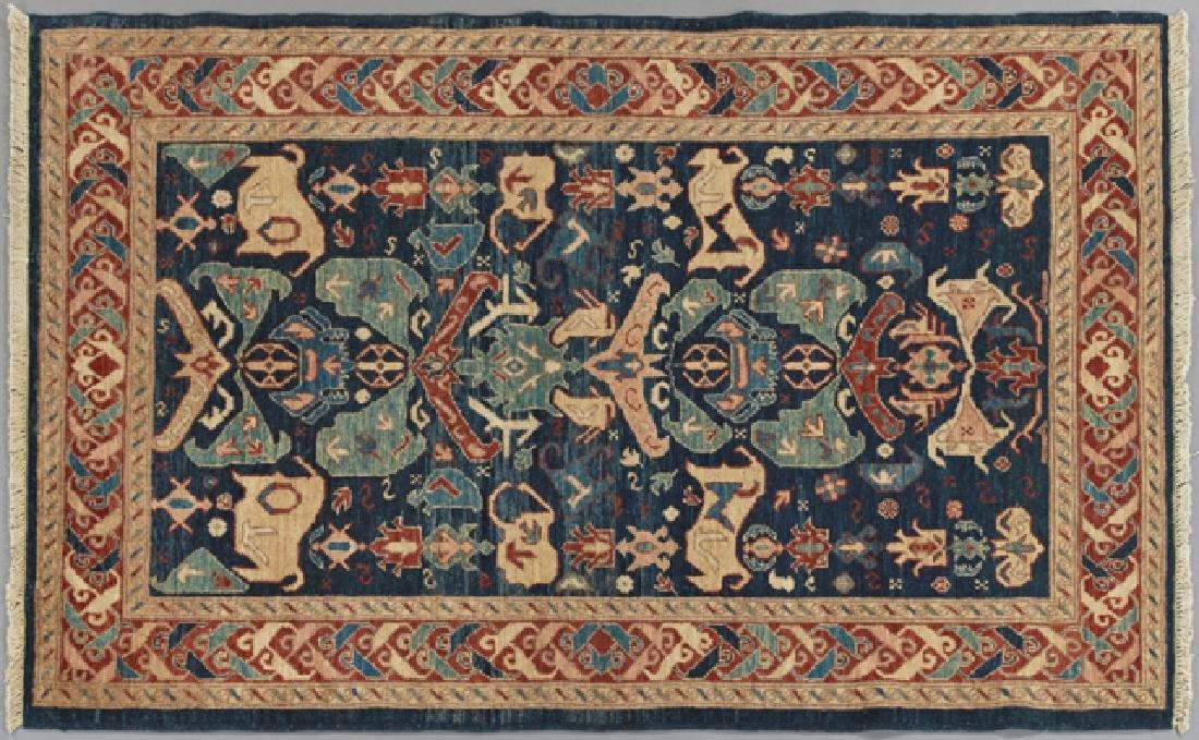 Peshawar Kuba Carpet, 4' x 5' 9