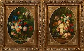 """Chinese School, """"Dutch Style Floral Still Life,"""" 20th"""