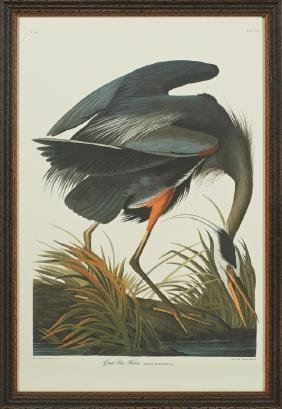 "John James Audubon (1785-1851), ""Great Blue Heron,"" No."