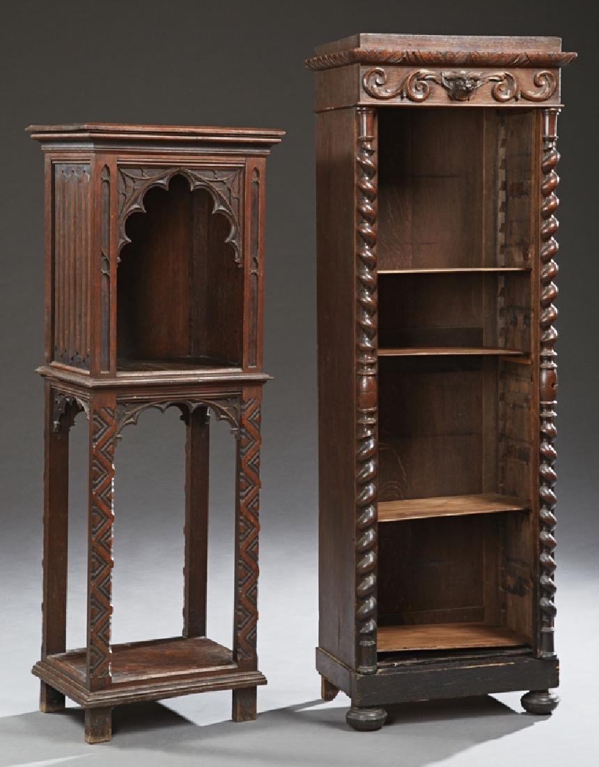 Two French Pieces, 19th c., consisting of a Gothic open