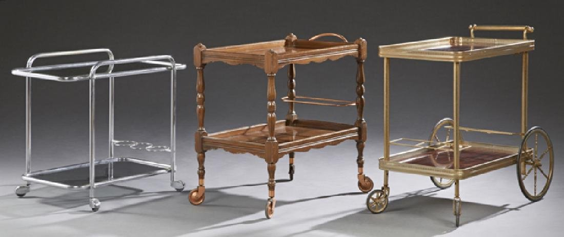 Group of Three French Rolling Dessert Carts, 20th c.,