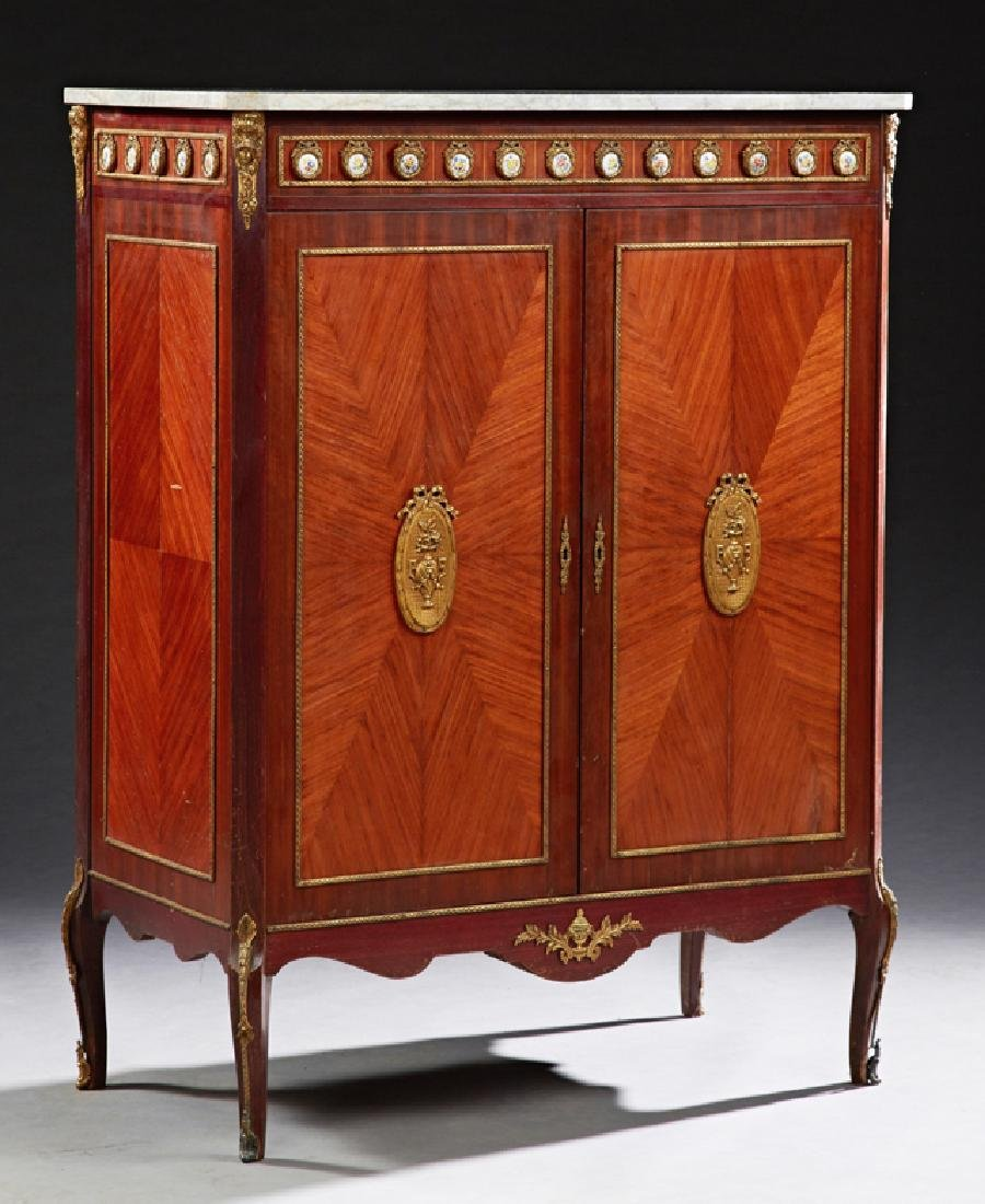 French Louis XV Style Ormolu Mounted Inlaid Rosewood