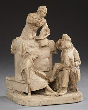 "John Rogers Figural Group, ""The Traveling Magician,"""