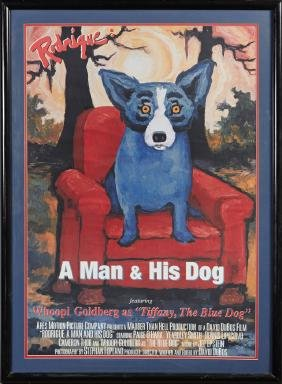 """Rodrigue: A Man and His Dog,"" 1993, poster for a PBS"
