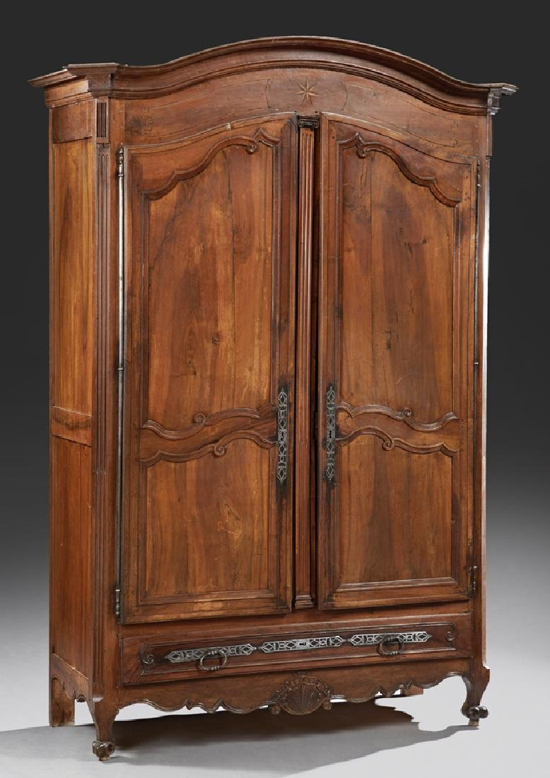 French Louis XV Style Armoire, early 19th c., the