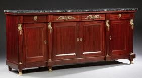 French First Empire Style Carved Mahogany Ormolu