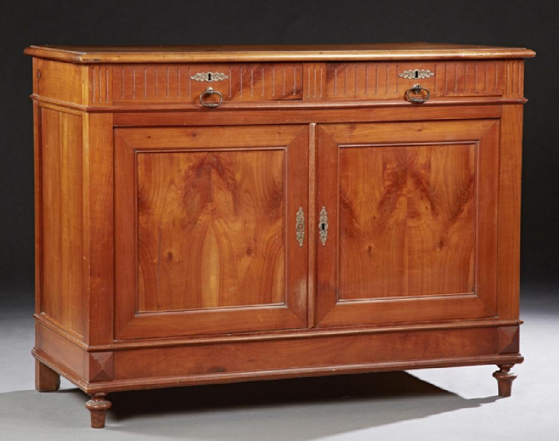 French Louis Philippe Style Carved Walnut Buffet, 19th