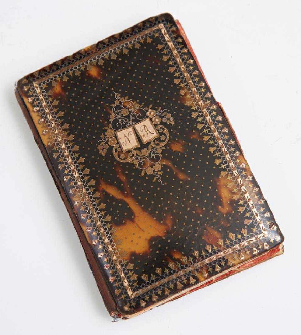 French Tortoise Shell Pocket Notebook, 19th c., the