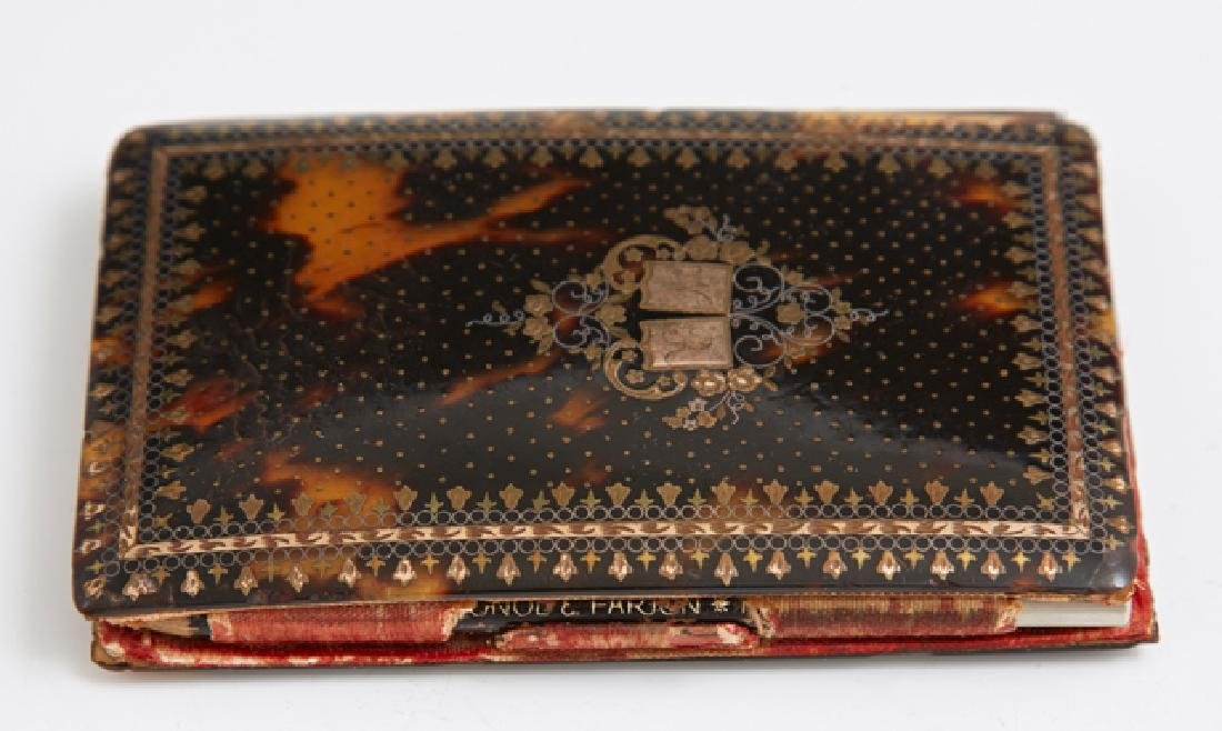 French Tortoise Shell Pocket Notebook, 19th c., the - 2