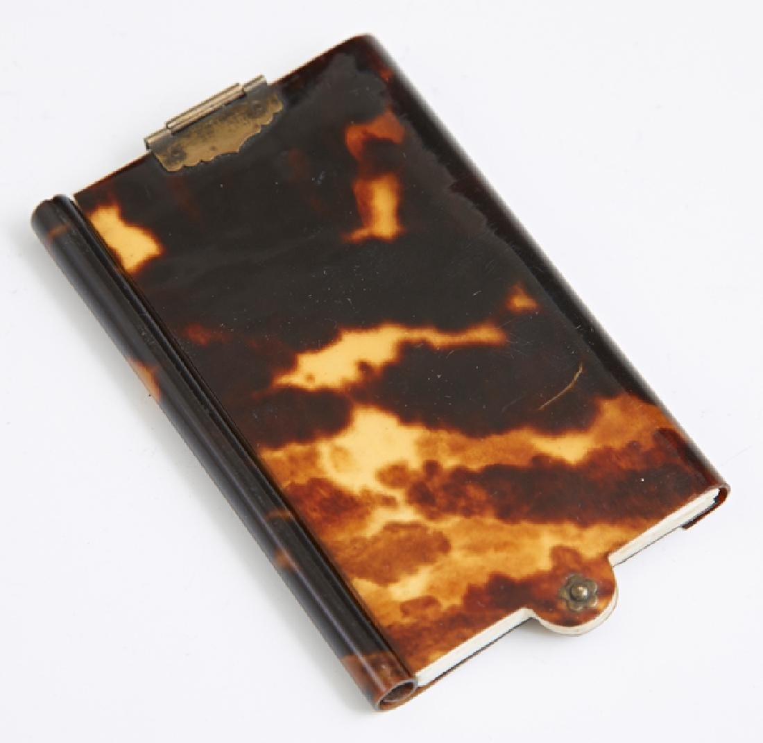 English Tortoise Shell Notebook, c. 1900, with seven