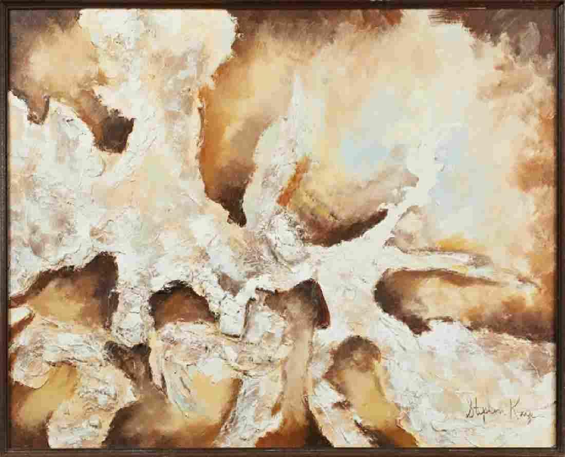 "Stephen Kaye (American), ""Abstract,"" 20th c., impasto"