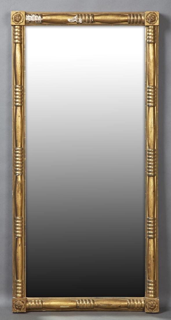 American Gilt and Gesso Landscape Mirror, 19th c., the