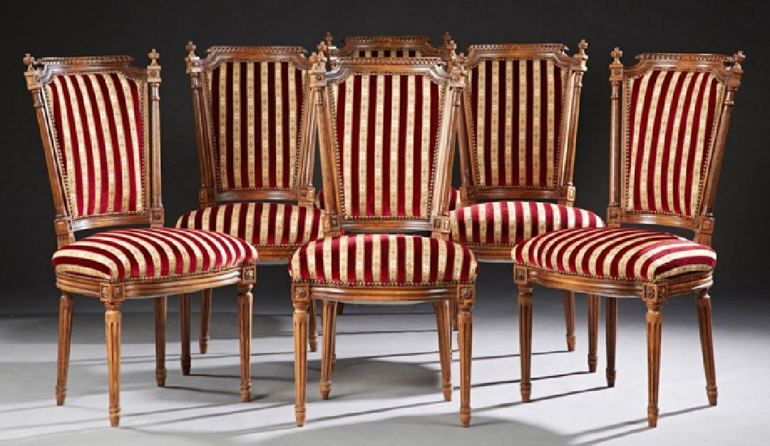 Set of Six French Carved Beech Louis XVI Style Dining
