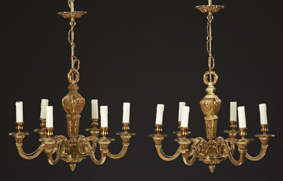 Pair of French Gilt Bronze Louis XV Style Six Light