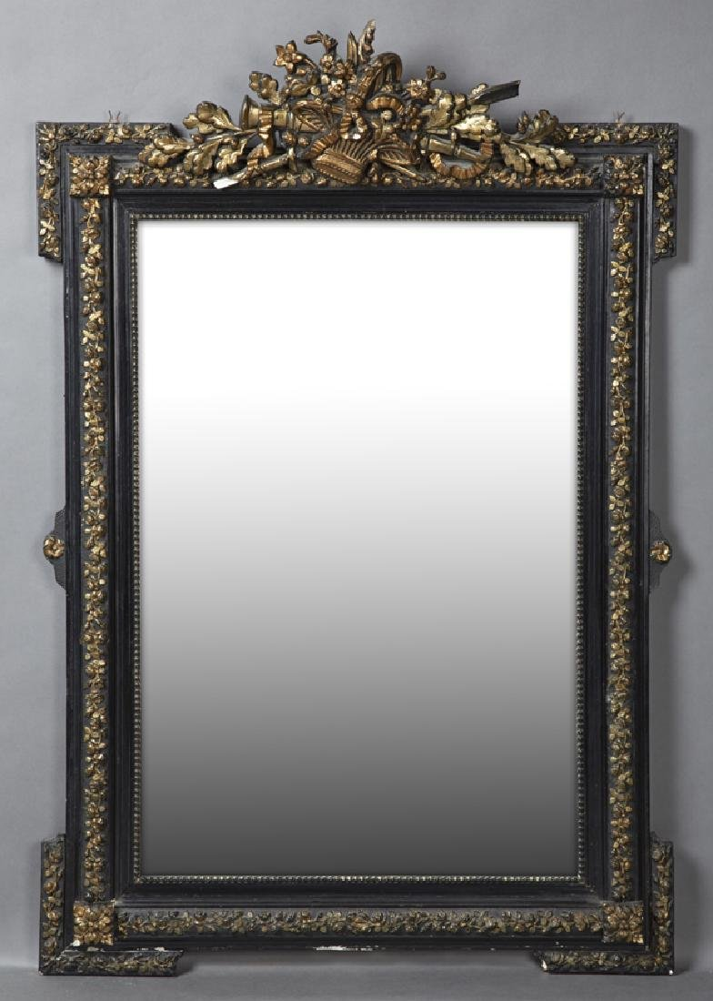French Ebonized, Gilt and Gesso Louis XVI Style