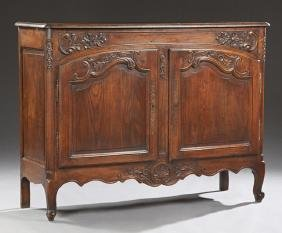 French Provincial Carved Oak Louis XV Style Sideboard,