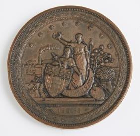New Orleans Cotton Exposition Bronze Award Medallion,