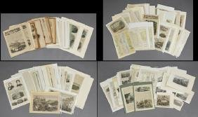 Large Group of Harper's Weekly Civil War Prints, many