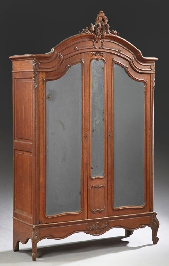 Three Piece French Carved Walnut Louis XV Style Bedroom - 2