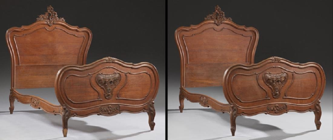 Three Piece French Carved Walnut Louis XV Style Bedroom - 3