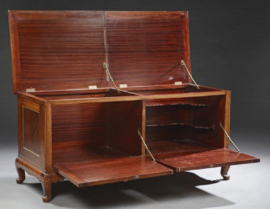 English Carved Mahogany Coffer, 20th c., with two lift - 2