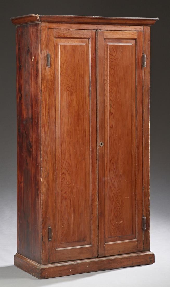 Louisiana Cypress Cupboard, 19th c., the ogee crown,