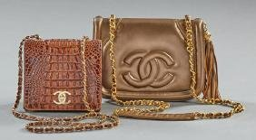 Two Purses, consisting of a Chanel style brown