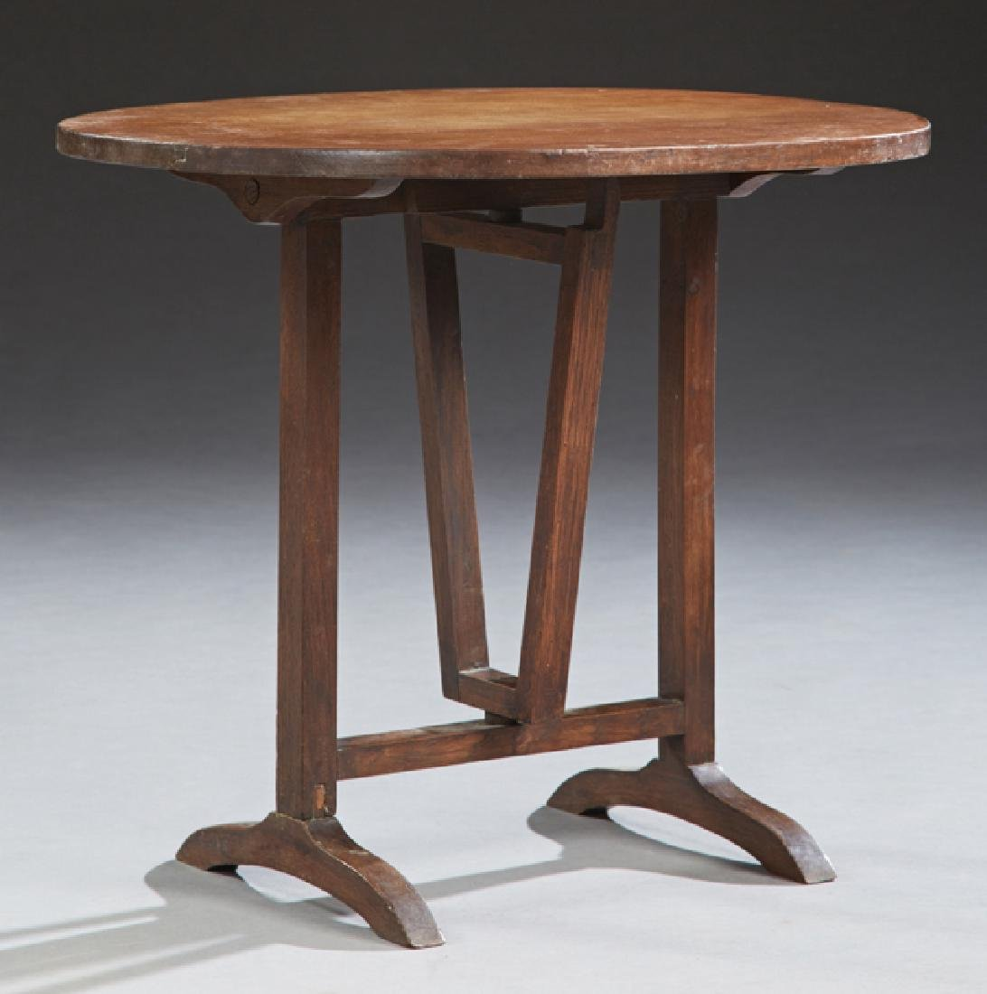 Diminutive French Carved Walnut Wine Tasting Table,