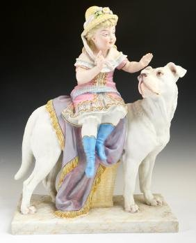 Large German Porcelain Figural Group, early 20th c., of