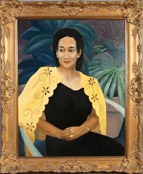 "Dale Nichols (1904-1995, American), ""Portrait of a"