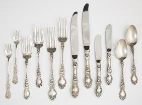 Forty-One Piece Set of Sterling Flatware, by Wallace,