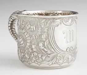 Rare Gorham Sterling Shaving Mug, A3960, 1898, with