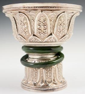 Large Chinese Silver Wedding Cup, early 20th c., the