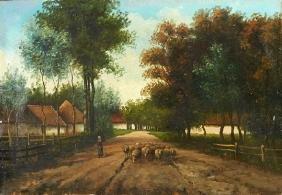 """Julius Jacobus Van de Bakhuijzen (1835-1925), """"Woman on"""