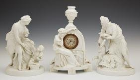 Three Pieces of Parian, 20th c., consisting of a