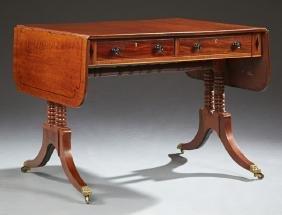 English Regency Style Mahogany Drop Leaf Writing Table,