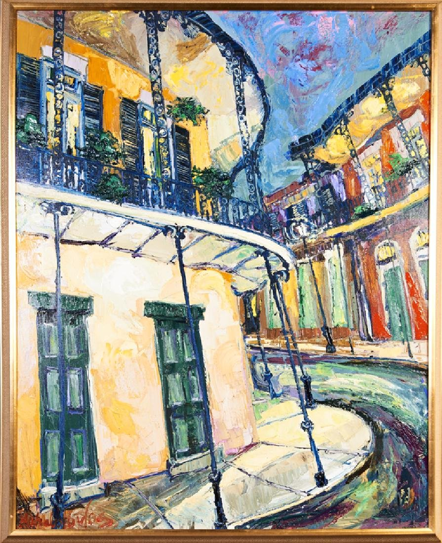 """James Michalopoulos (1951-, New Orleans), """"French"""