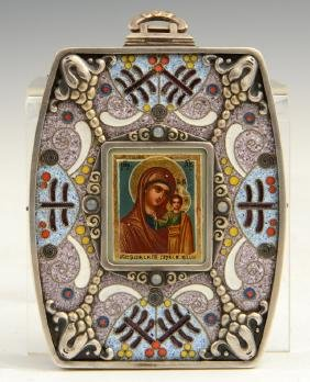 Russian Icon of the Virgin of Kazan, 1908-1917, in a