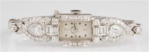 Lady's Hamilton Platinum and Diamond Wrist Watch, c.