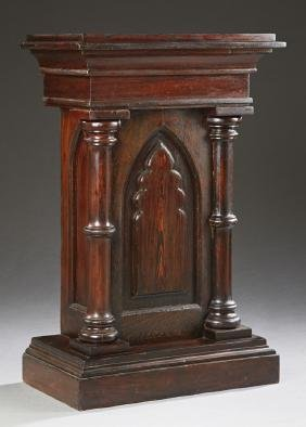 American Carved Pine Church Pedestal, 19th c., the