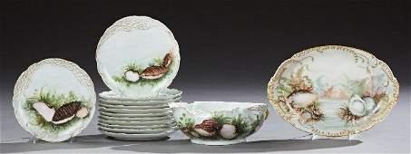 Fourteen Piece Haviland Limoges Porcelain Fish Set,