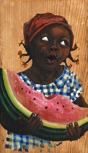 "Landry (Louisiana), ""Girl Eating Watermelon,"" 20th c.,"