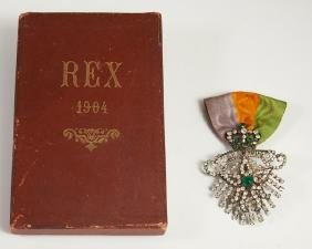 Mardi Gras- Krewe of Rex Ducal Badge, 1904, theme of